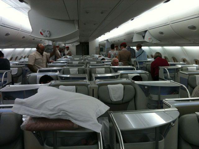 Die Business -Klasse im A380