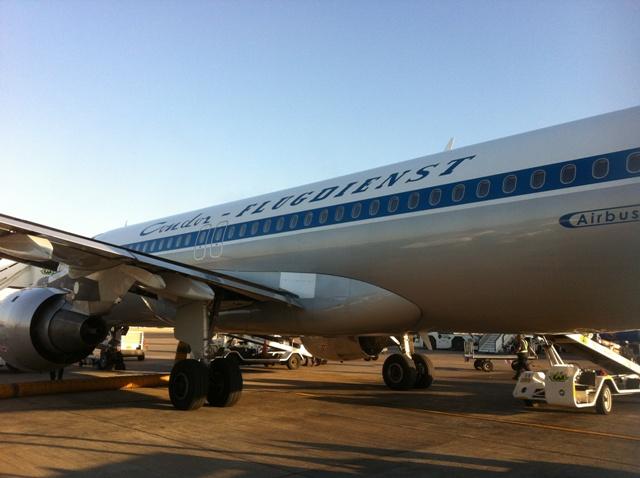 """Der A320 mit der Retro Aufschrift """"Condor Flugdienst"""""""