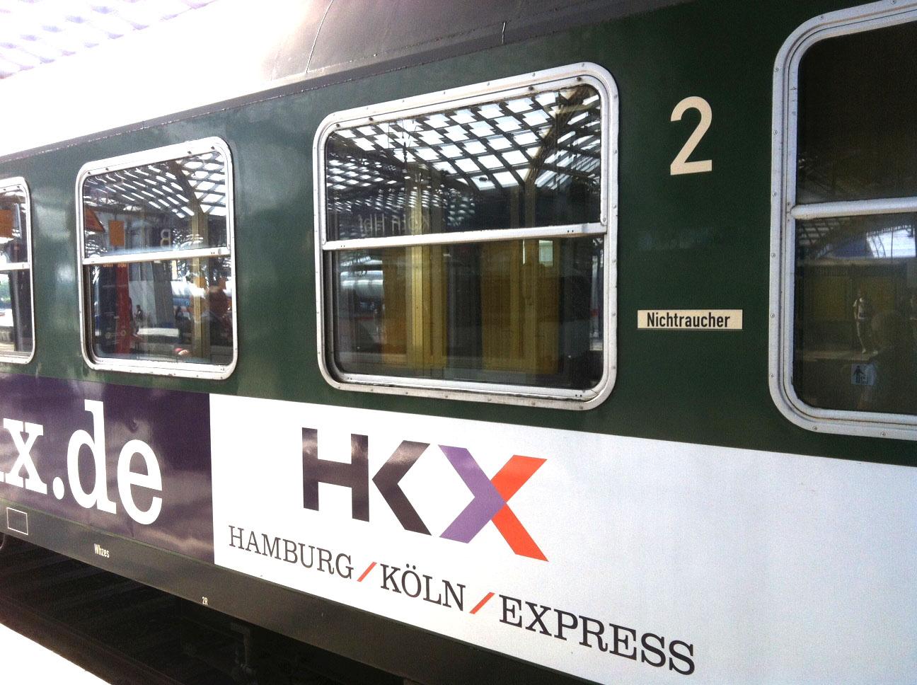 HKX Hamburg Koeln Express außen