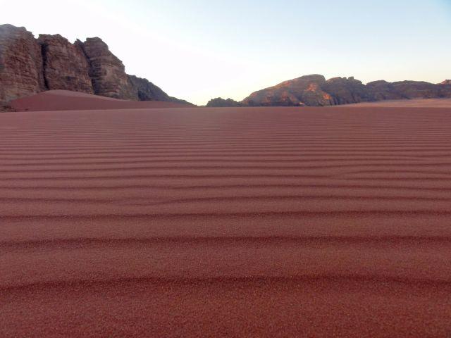 Sand in der Wüste Wadi Rum auf Weltreise