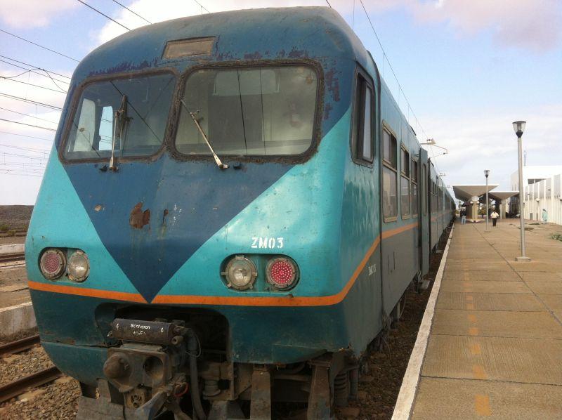 Zug fahren in Marokko