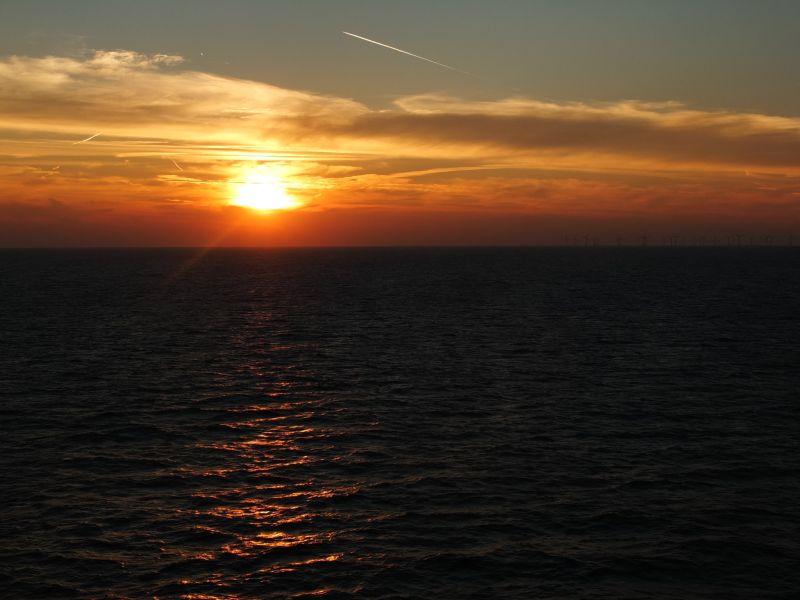 Sonnenuntergang  DFDS Seaways
