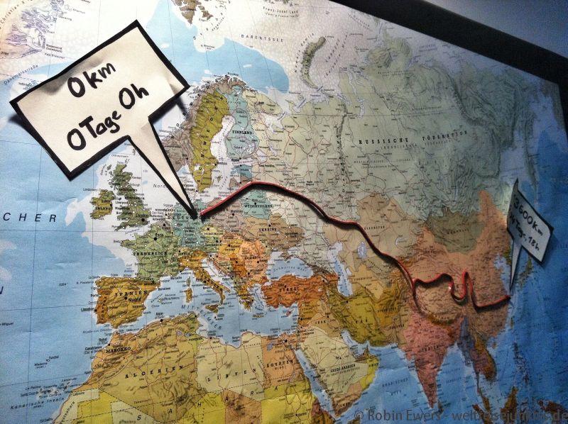 Fahrradreise Karte