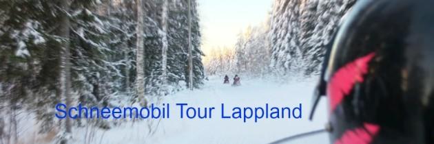 Schneemobil-Tour in Lappland